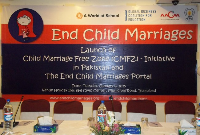 Launch of Child Marriage Free Zone - Initiative in Pakistan and The End Child Marriages Portal
