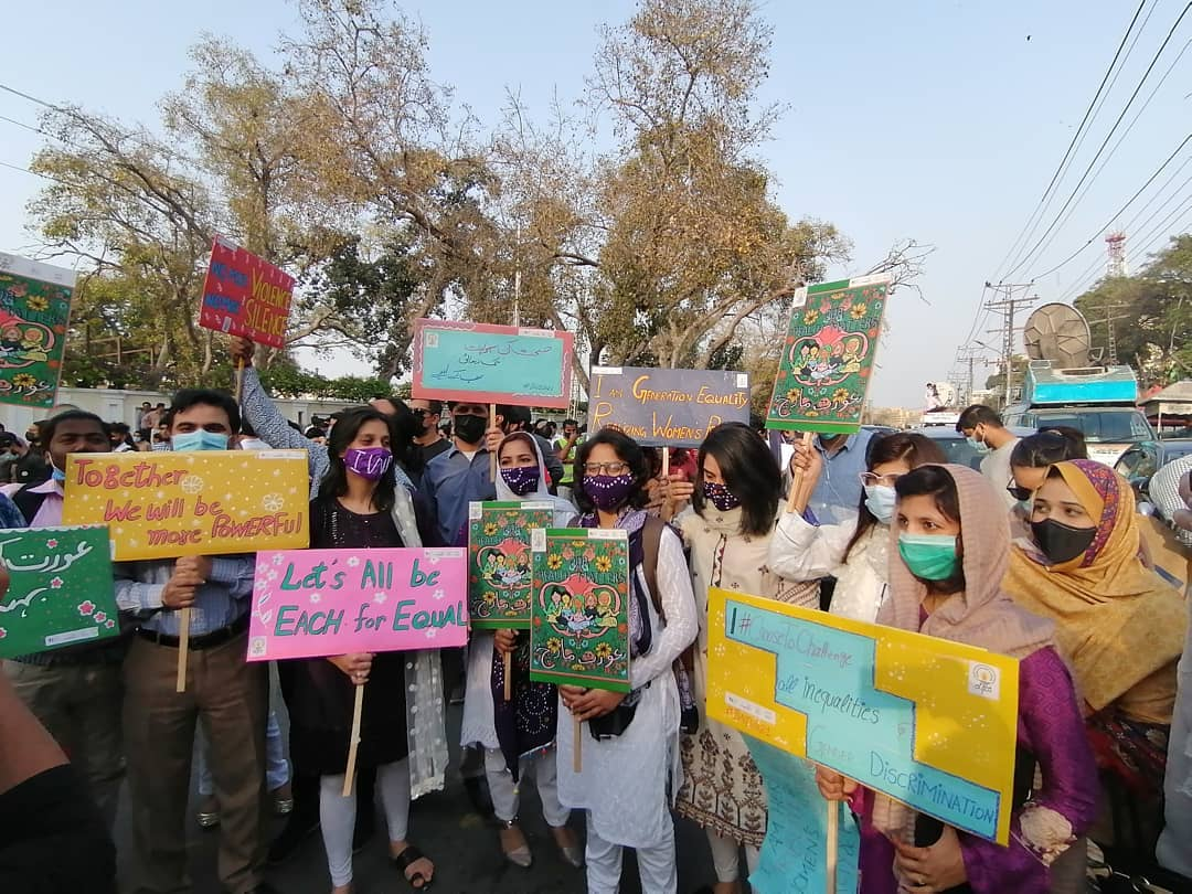 ITA Joins Aurat March in Lahore 2021