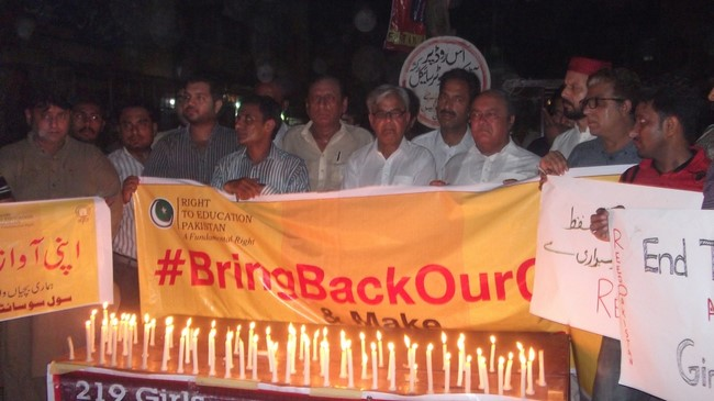 219 Girls 100 Days Missing #BringBackOurGirls - Rahim Yar Khan