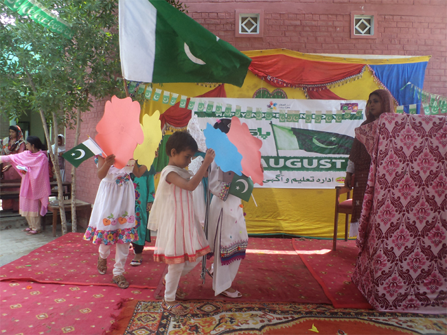 ITA celebrates independence day at CM Model village 48/NP RYK