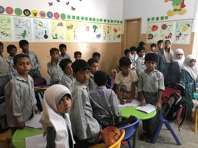 ECE classroom visits in Learning Skills for Kids (#LSK) School's Niaz Baig campus