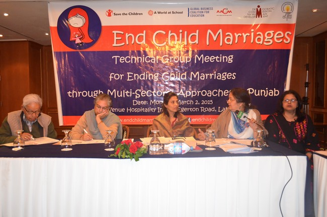 Technical Group Meeting for Ending Child Marriage through  Multi-Sectoral Approaches in Punjab