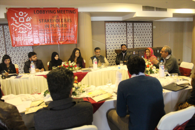 Lobbying meeting with stakeholders in Punjab