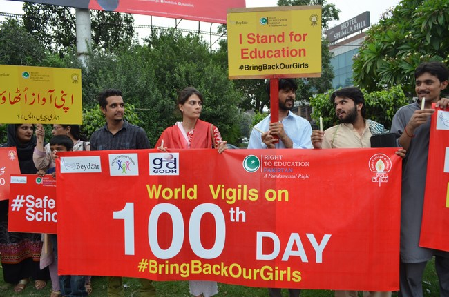 219 Girls 100 Days Missing #BringBackOurGirls - Protest in Lahore