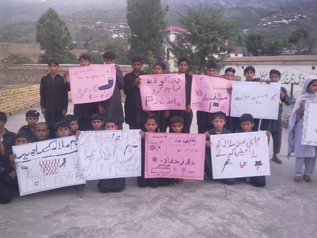 Malala Students' Compaign for Malala Yousufzai in District Swat